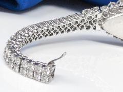 Vacheron Constantin Rare 30carat 42mm Vacheron Constantin White Gold Diamond Lozenge Wristwatch - 1424893