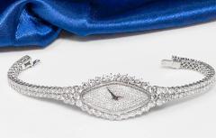 Vacheron Constantin Rare 30carat 42mm Vacheron Constantin White Gold Diamond Lozenge Wristwatch - 1424894