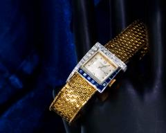 Vacheron Constantin Unique 1960s 18Kt Vacheron Constantin Asymmetrical Sapphire Diamond Wristwatch - 1137189