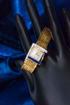 Vacheron Constantin Unique 1960s 18Kt Vacheron Constantin Asymmetrical Sapphire Diamond Wristwatch - 1137190