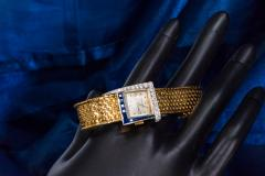 Vacheron Constantin Unique 1960s 18Kt Vacheron Constantin Asymmetrical Sapphire Diamond Wristwatch - 1137191