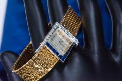 Vacheron Constantin Unique 1960s 18Kt Vacheron Constantin Asymmetrical Sapphire Diamond Wristwatch - 1137193