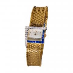 Vacheron Constantin Unique 1960s 18Kt Vacheron Constantin Asymmetrical Sapphire Diamond Wristwatch - 1137916
