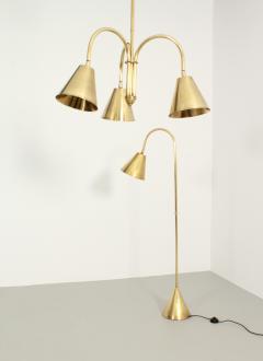 Valenti Brass Floor Lamp by Valenti Spain 1950s - 1992089