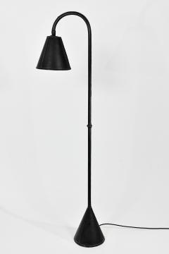 Valenti Spain Elegant black leather standing lamp - 1789637