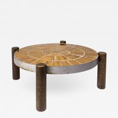 Vallarius Vallauris Ceramic Coffee Table circa 1960 France - 894574