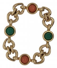 Van Cleef Arpels Can Cleef Arpels coral and chrysophrase bracelet - 1466020
