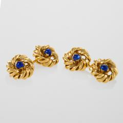 Van Cleef Arpels Mid 20th Century Sapphire and Gold Cuff Links - 114534