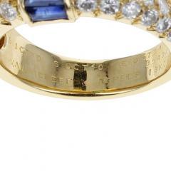 Van Cleef Arpels PARIS VAN CLEEF ARPELS EMERALD AND SAPPHIRE BAGUETTES WITH ROUND DIAMONDS RING - 1964934
