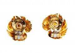Van Cleef Arpels Pair of 18 Karat Gold Earclips by Van Cleef Arpels Paris 1959 - 142213