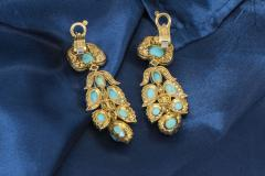 Van Cleef Arpels Rare 1970s Van Cleef Arpels Diamond Set Persian Turquoise Earrings Clips - 434924