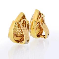 Van Cleef Arpels VAN CLEEF ARPELS 18K YELLOW GOLD 4 50 CARAT DIAMOND EARRINGS - 1797420