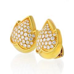 Van Cleef Arpels VAN CLEEF ARPELS 18K YELLOW GOLD 4 50 CARAT DIAMOND EARRINGS - 1797421