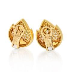 Van Cleef Arpels VAN CLEEF ARPELS 18K YELLOW GOLD 4 50 CARAT DIAMOND EARRINGS - 1797423
