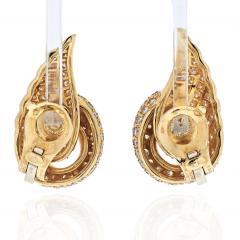 Van Cleef Arpels VAN CLEEF ARPELS 18K YELLOW GOLD DIAMOND SWAN EARRINGS - 1932174
