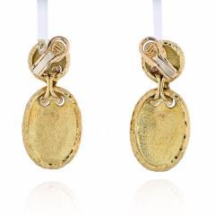 Van Cleef Arpels VAN CLEEF ARPELS 18K YELLOW GOLD HAMMERED FINISH OVAL MEDALLION EARRINGS - 1902669