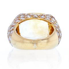 Van Cleef Arpels VAN CLEEF ARPELS 18K YELLOW GOLD OVAL CUT YELLOW SAPPHIRE PAVE DIAMOND RING - 2029641