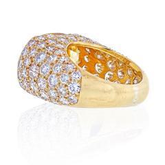 Van Cleef Arpels VAN CLEEF ARPELS 18K YELLOW GOLD OVAL CUT YELLOW SAPPHIRE PAVE DIAMOND RING - 2029642