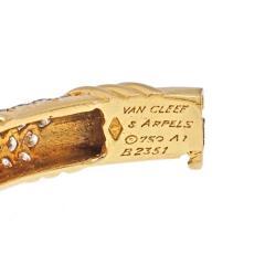 Van Cleef Arpels VAN CLEEF ARPELS 18K YELLOW GOLD VINTAGE DIAMOND HINGED BANGLE BRACELET - 1953894