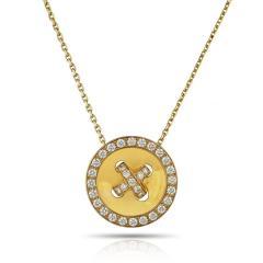 Van Cleef Arpels VAN CLEEF ARPELS BOUTONNIERE 18K YELLOW GOLD DIAMOND PENDANT - 1797452