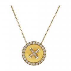Van Cleef Arpels VAN CLEEF ARPELS BOUTONNIERE 18K YELLOW GOLD DIAMOND PENDANT - 1798645