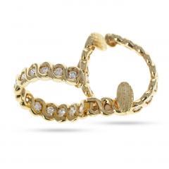 Van Cleef Arpels VAN CLEEF ARPELS DIAMOND AND GOLD HOOP EARRINGS - 1964928