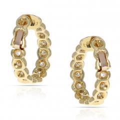 Van Cleef Arpels VAN CLEEF ARPELS DIAMOND AND GOLD HOOP EARRINGS - 1964930