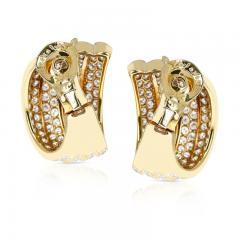 Van Cleef Arpels VAN CLEEF ARPELS FOUR CURVE COCKTAIL EARRINGS WITH 12 CT DIAMONDS 18K YELLOW - 2086633