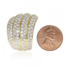 Van Cleef Arpels VAN CLEEF ARPELS FOUR CURVE COCKTAIL EARRINGS WITH 12 CT DIAMONDS 18K YELLOW - 2086634