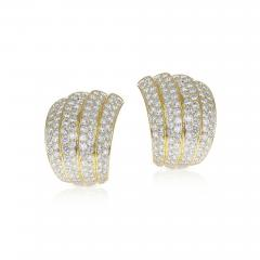 Van Cleef Arpels VAN CLEEF ARPELS FOUR CURVE COCKTAIL EARRINGS WITH 12 CT DIAMONDS 18K YELLOW - 2086880