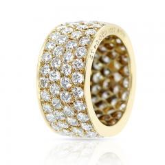 Van Cleef Arpels VAN CLEEF ARPELS FOUR ROW DIAMOND BAND 18K YELLOW GOLD - 1989714