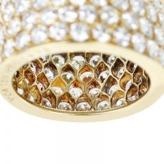 Van Cleef Arpels VAN CLEEF ARPELS FOUR ROW DIAMOND BAND 18K YELLOW GOLD - 1989716