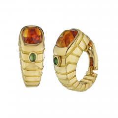 Van Cleef Arpels VAN CLEEF ARPELS FRENCH 18K YELLOW GOLD CITRINE TOURMALINE SHRIMP EARRINGS - 1798630