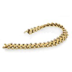 Van Cleef Arpels VAN CLEEF ARPELS GRAIN OF RICE 18K YELLOW GOLD DIAMOND BRACELET - 1733984