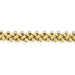 Van Cleef Arpels VAN CLEEF ARPELS GRAIN OF RICE 18K YELLOW GOLD DIAMOND BRACELET - 1733985