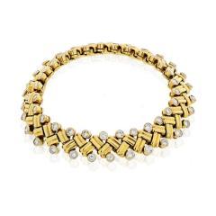 Van Cleef Arpels VAN CLEEF ARPELS GRAIN OF RICE 18K YELLOW GOLD DIAMOND BRACELET - 1733986