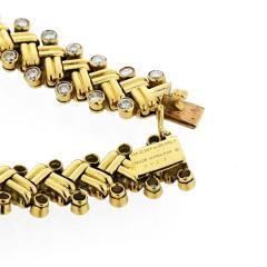 Van Cleef Arpels VAN CLEEF ARPELS GRAIN OF RICE 18K YELLOW GOLD DIAMOND BRACELET - 1733987