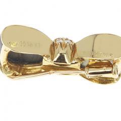 Van Cleef Arpels VAN CLEEF ARPELS LABRADORITE AND DIAMONDS BOW PIN AND BROOCH 18K YELLOW - 1964931