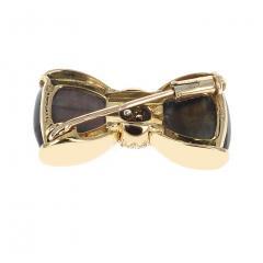 Van Cleef Arpels VAN CLEEF ARPELS LABRADORITE AND DIAMONDS BOW PIN AND BROOCH 18K YELLOW - 1964933