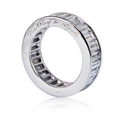 Van Cleef Arpels VAN CLEEF ARPELS PLATINUM 5 82CTTW BAGUETTE CUT DIAMOND ETERNITY BAND - 1797428