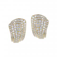 Van Cleef Arpels VAN CLEEF ARPELS THREE STEP COCKTAIL EARRINGS WITH 3 20 CARAT DIAMONDS 18K - 2031660