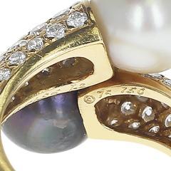 Van Cleef Arpels VAN CLEEF ARPELS TOI ET MOI 9 5MM PEARL AND DIAMOND RING 18K YELLOW GOLD - 1954933