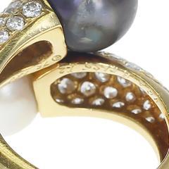 Van Cleef Arpels VAN CLEEF ARPELS TOI ET MOI 9 5MM PEARL AND DIAMOND RING 18K YELLOW GOLD - 1954934