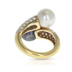 Van Cleef Arpels VAN CLEEF ARPELS TOI ET MOI 9 5MM PEARL AND DIAMOND RING 18K YELLOW GOLD - 1954935