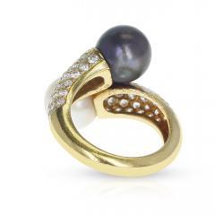 Van Cleef Arpels VAN CLEEF ARPELS TOI ET MOI 9 5MM PEARL AND DIAMOND RING 18K YELLOW GOLD - 1954937
