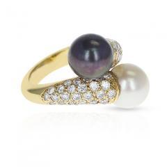 Van Cleef Arpels VAN CLEEF ARPELS TOI ET MOI 9 5MM PEARL AND DIAMOND RING 18K YELLOW GOLD - 1954941