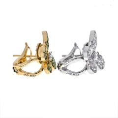 Van Cleef Arpels VCA 18K YELLOW GOLD FLYING BEAUTIES DIAMONDS AND TSAVORITE BUTTERFLY EARRINGS - 1902664