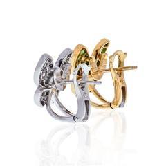 Van Cleef Arpels VCA 18K YELLOW GOLD FLYING BEAUTIES DIAMONDS AND TSAVORITE BUTTERFLY EARRINGS - 1902665