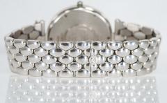 Van Cleef Arpels Van Cleef Arpels 1990s 18k Gold Pave Diamond Dial Sapphire Bracelet Watch - 1171590