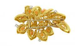 Van Cleef Arpels Van Cleef Arpels Coral and Diamond Brooch - 1136179